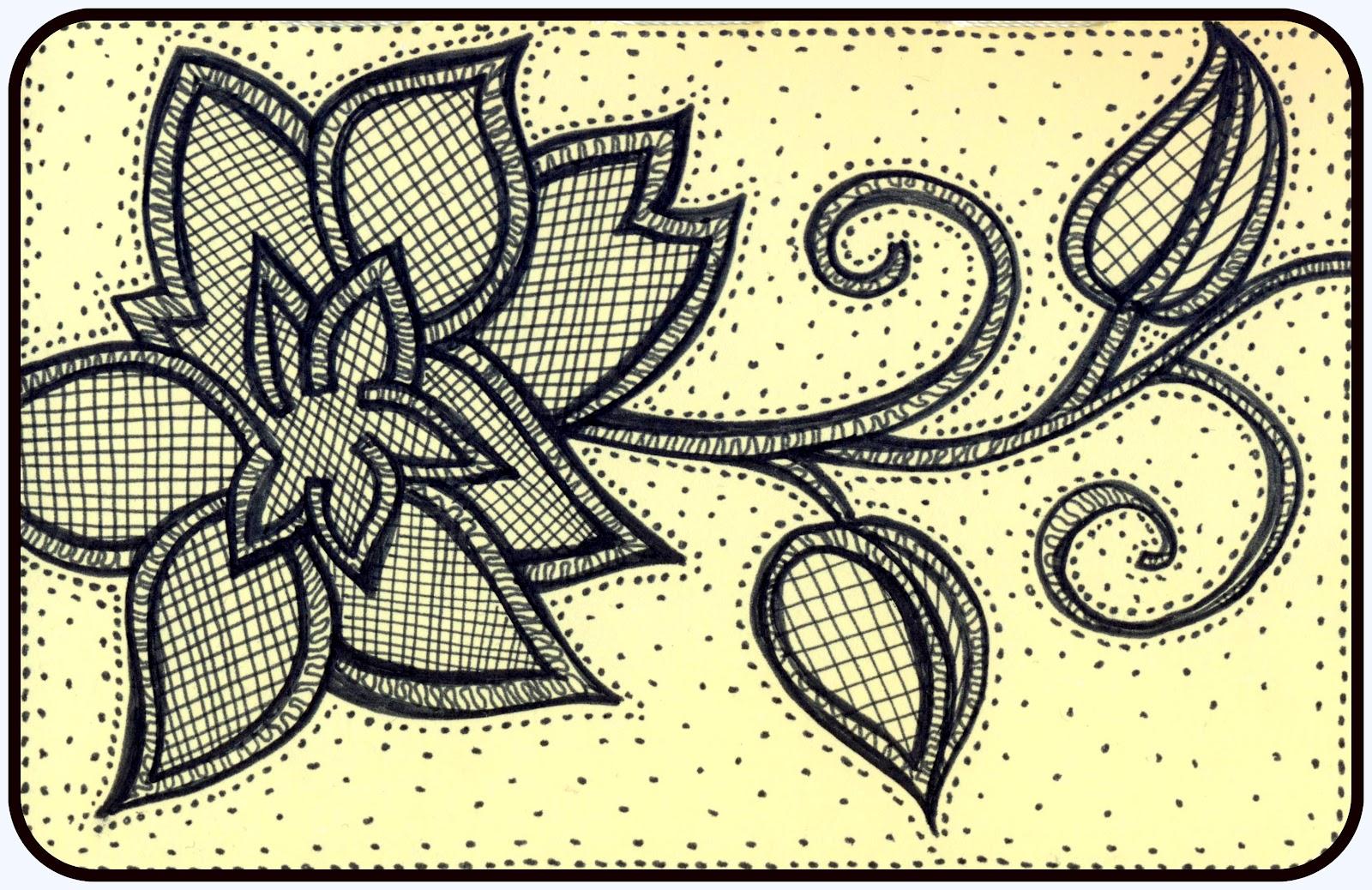 Zendoodle Thursday Embroidered Flower Mezzamay
