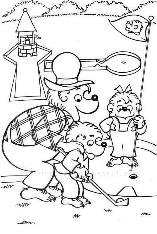 bernstein bear coloring pages - photo#30