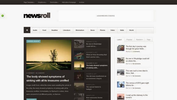 Newsroll - Modular and Responsive Magazine Theme