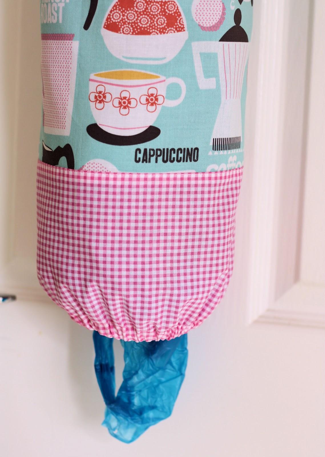 how to make a plastic bag dispenser