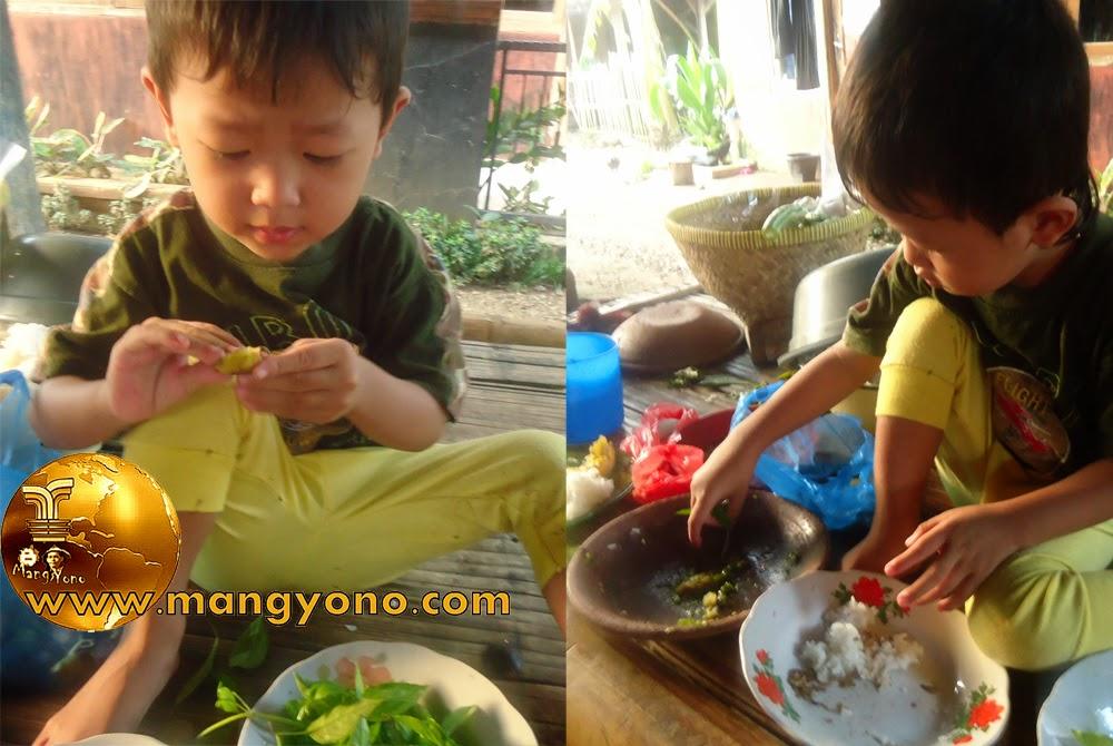 FOTO : Makan dengan lalapan Kemangi ...