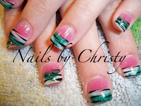 Zebra Stripe Nail Designs