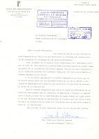 Carta del Secretario General Técnico. Fecha 29/10/1983