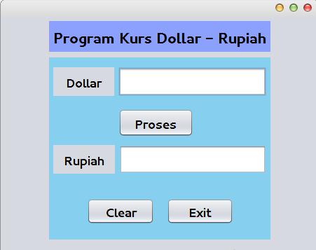 Program Java Sederhana Konversi Nilai Mata Uang (Kurs)