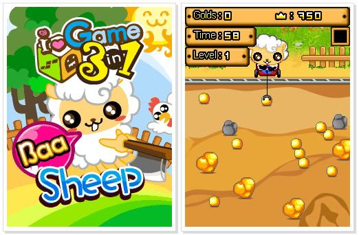 Nokia C3 Game : Baa Sheep: Game 3 in 1