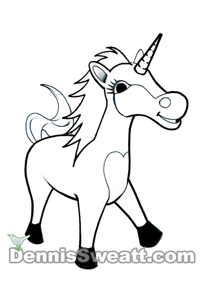 Coloring book Unicorn Animal