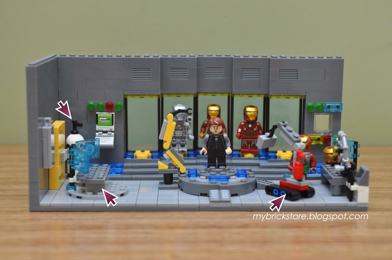 lego iron man laboratory instructions