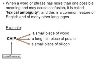 lexical ambiguity