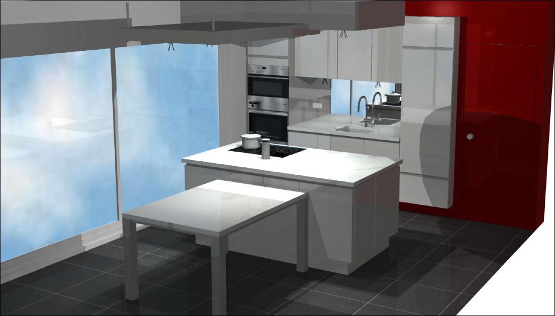 Verlaagde Plafond Keuken : verlaagde plafond staat in verbinding met het verlaagd plafond voor de