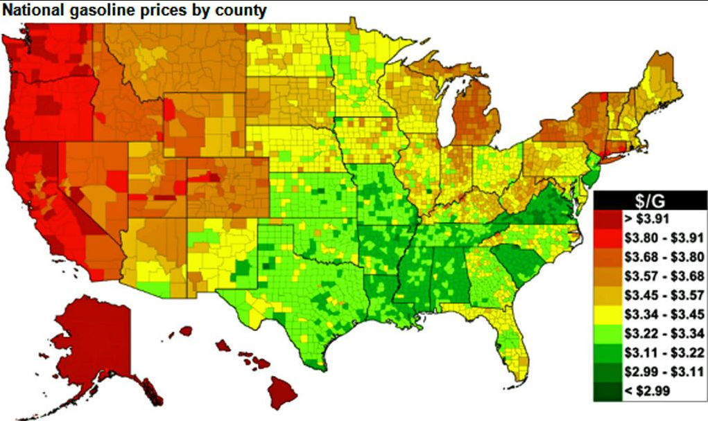 Refinery Maps How Much Does Gas Cost Across The US - Us refinery map