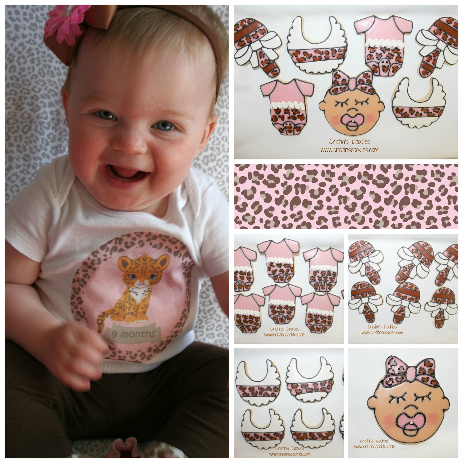 cristin 39 s cookies leopard print for a baby shower