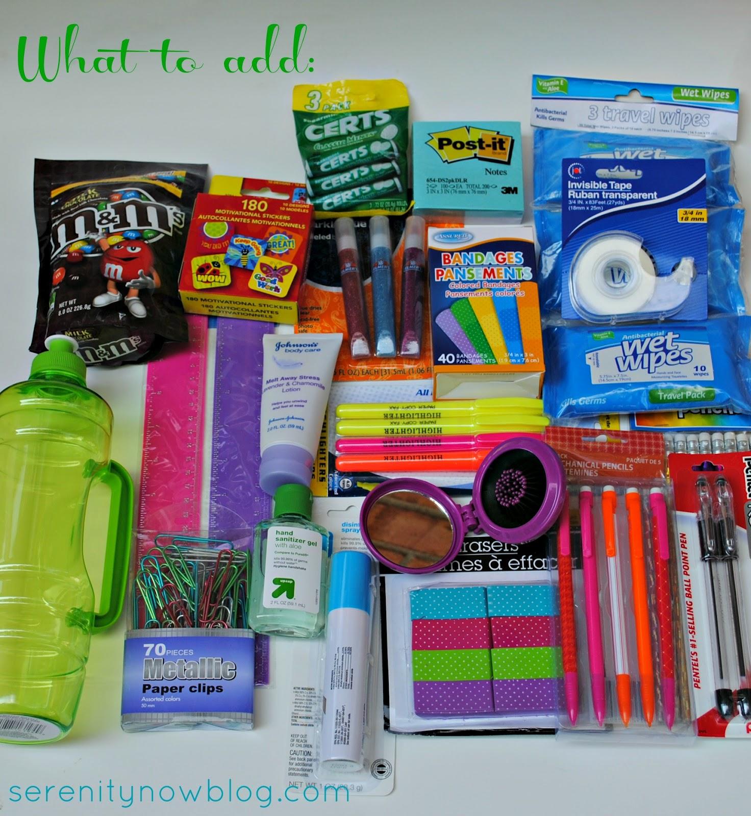 Serenity Now: Teacher Survival Kit (1st Day of School ...