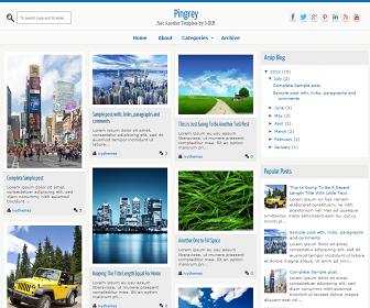 Pingrey Responsive Blogger Template