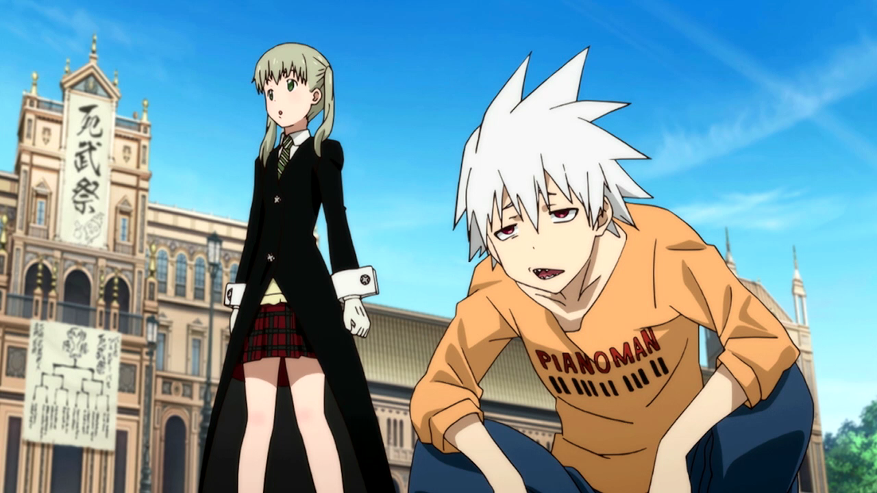 Naturally Maka and Soul are present