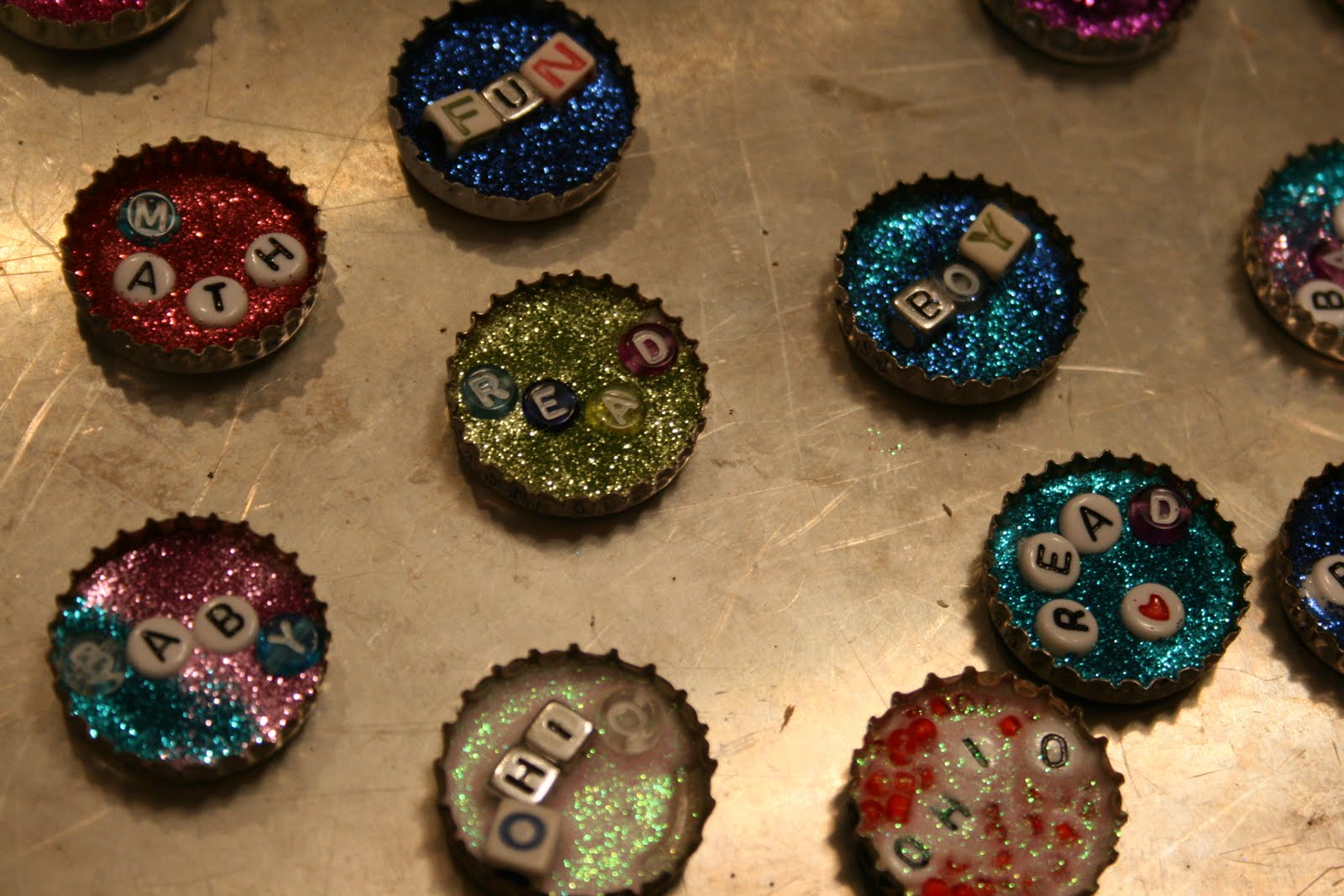 a vibrant life bottle cap crafts