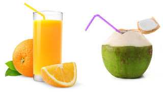 Drink coconut water or orange juice for fair skin - Homeremediestipsideas