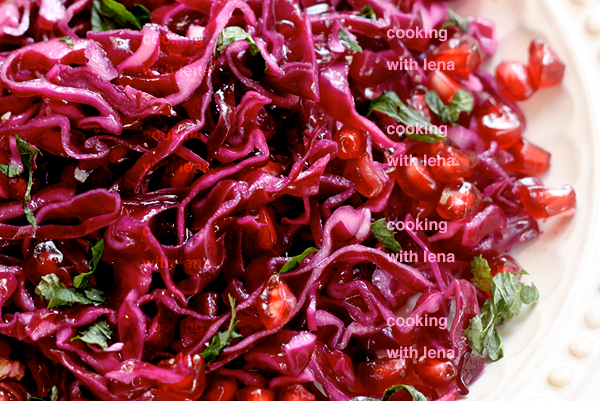 purple cabbage salad from Lemon n Spice blog