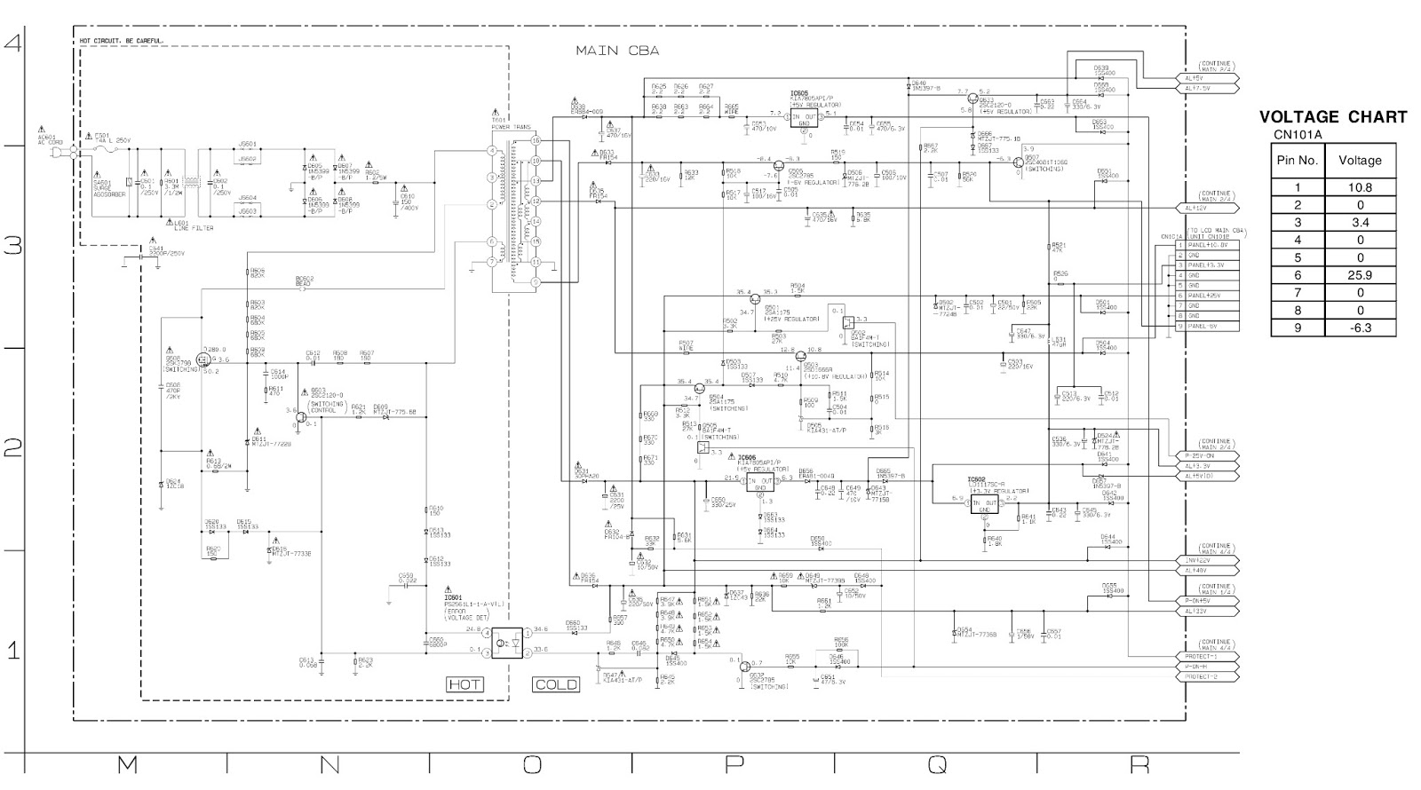 symphonic lcd b20a6 - lcd b20b6 - spms  u0026 back light inverter