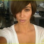 kim kardashian hairstyle short 2014