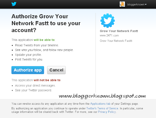Twitter - Authorize an application - Increase Twitter Followers