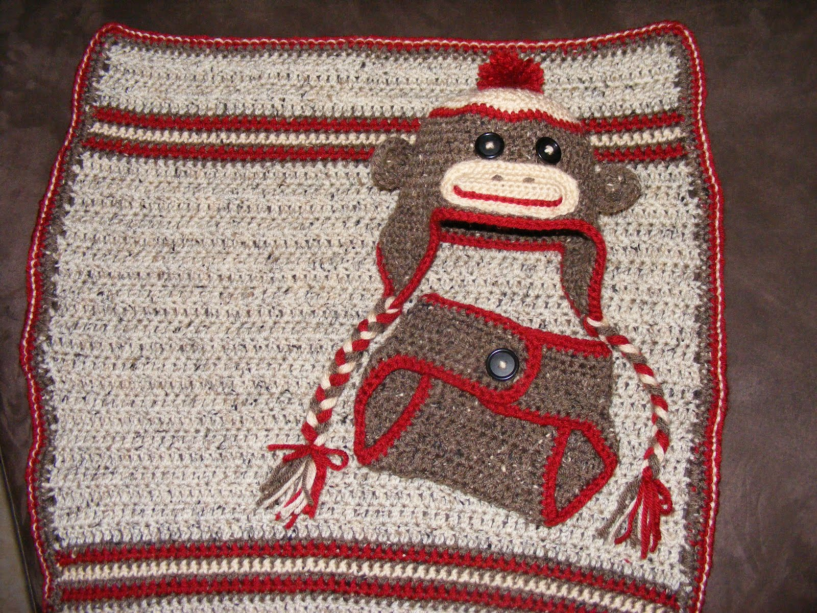 center Sock Monkey Baby Set Crochet center