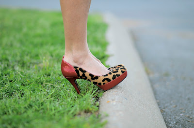 Red leopard shoes at Nashville Fashion Week 2012