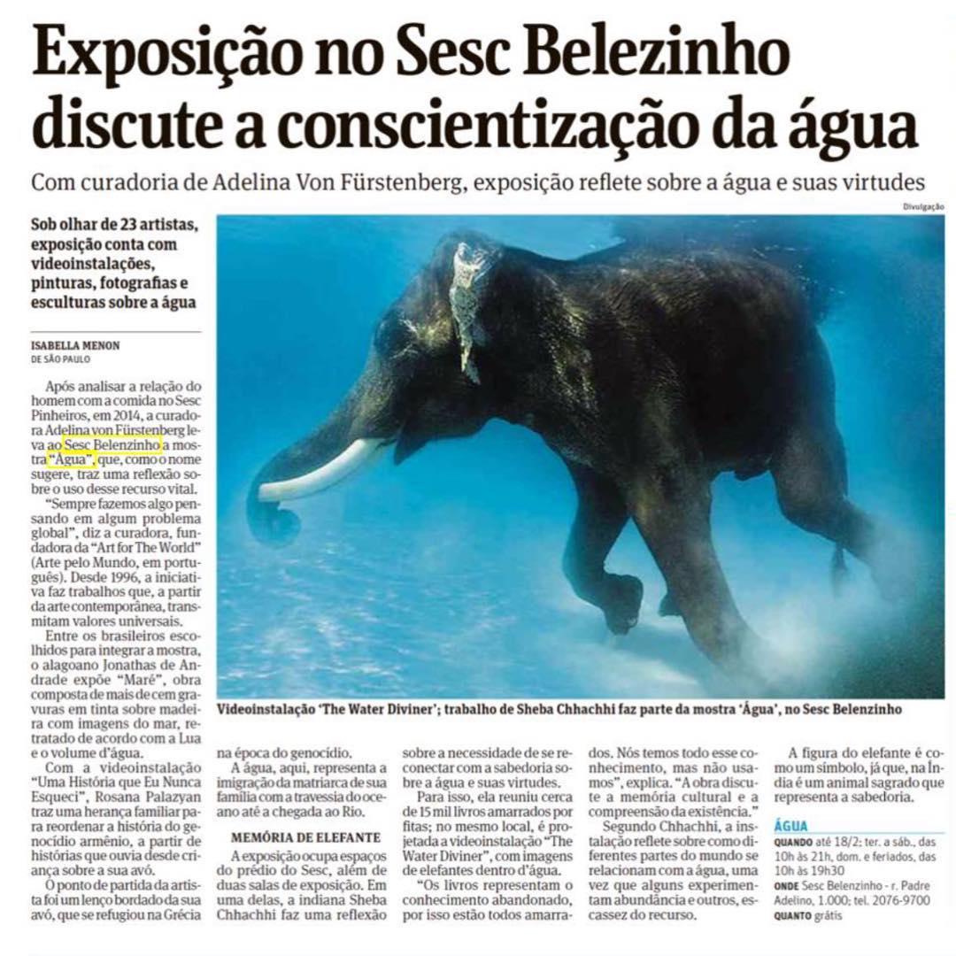 Exposição ÁGUA | SESC BELENZINHO | 2017/2018