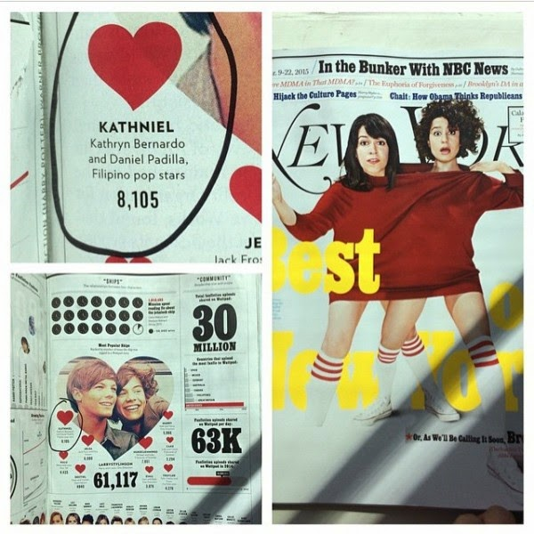 "KathNiel makes it to New York magazine's Top ""Ships"""