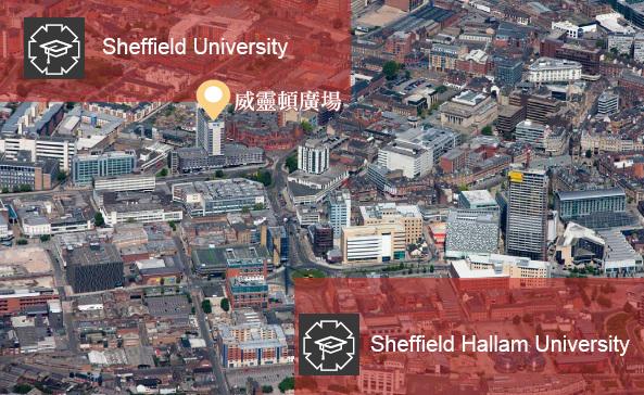 英國房地產 雪菲爾學生宿舍 地圖