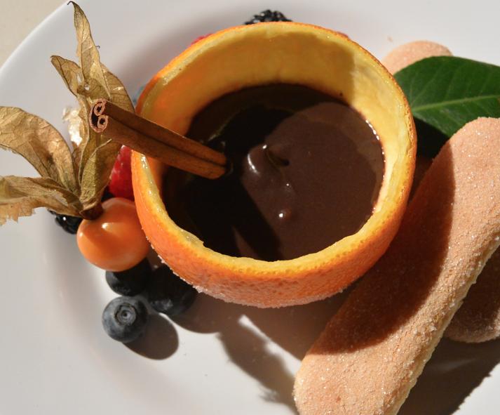 009153b7c560 Sanguinaccio with Ladyfinger biscuits and fresh berries