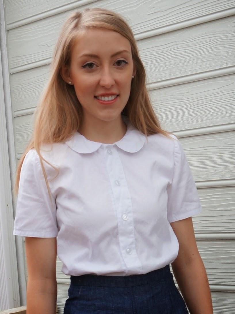 Allie jackson a second peter pan collar shirt for Peter pan shirt pattern