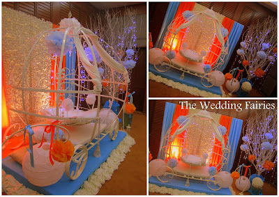 The wedding fairies beautiful orange baby blue name for Baby name ceremony decoration
