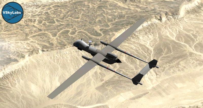 VSKYLABS IAI UAV 'Heron' TP
