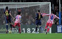 Falcao celebra el 1-0 frente al Barça
