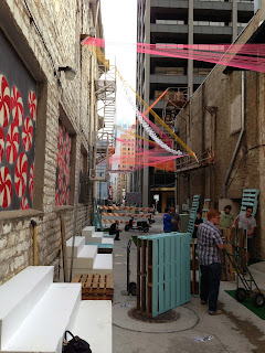 20 ft Wide downtown Austin alley activation
