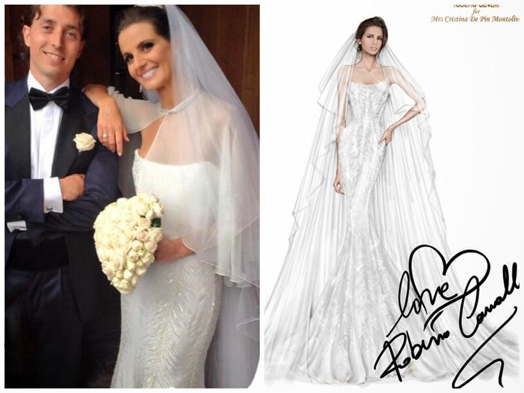 abiti da sposa vip, abito sposa Cristina De Pin