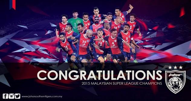 Tahniah JDT!!... LIGA SUPER MALAYSIA 2015 Milik JDT Sekali Lagi..