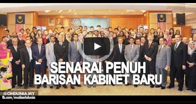 Video Rombakan Kabinet dan Senarai Penuh Barisan Kabinet Baru