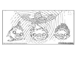 Angry Birds coloring pages Greenday