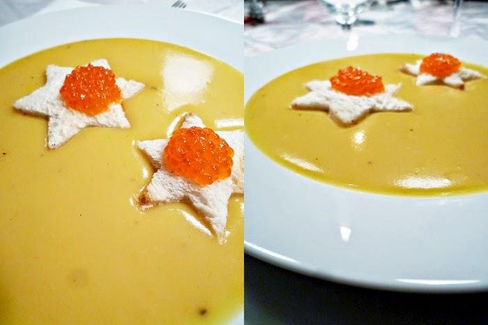 Kartoffelsuppe mit Safran und Kaviar