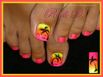 its all about nails my summer toes