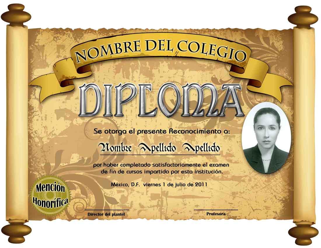 ... del diseñador gráfico** Plantillas para photoshop.: Diploma en psd