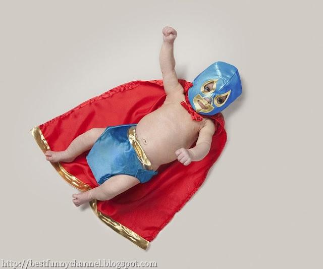 Baby super wrestler.
