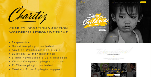 download Charitiz - Charity, Donation & Auction WordPress Theme