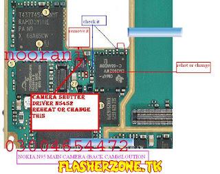 Nokia n95 back camera  jumper diagram hardware solution