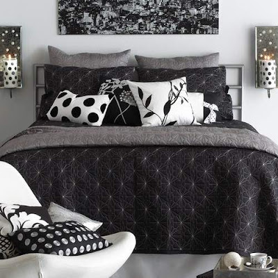 Black and White Bedrooms Pictures Design Ideas