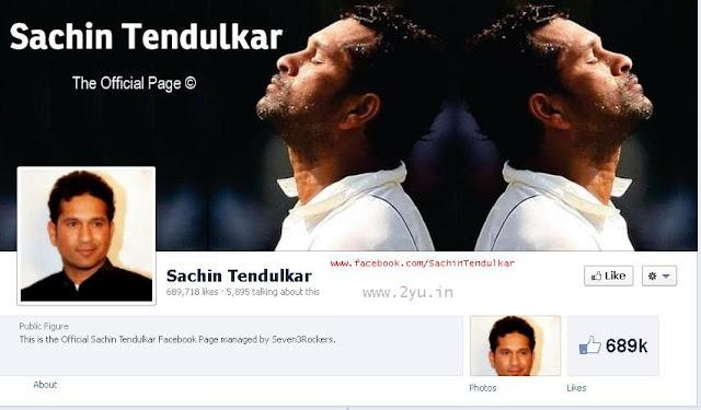 Official Sachin Tendulkar FB, Sachin FB, sachin striking on facebook,  Sachin Tendulkar joins Facebook, gets 4.4 lakh 'Likes' in hours, Sachin Tendulkar on Facebook, Sachin Tendulkar makes formal debut on Facebook,