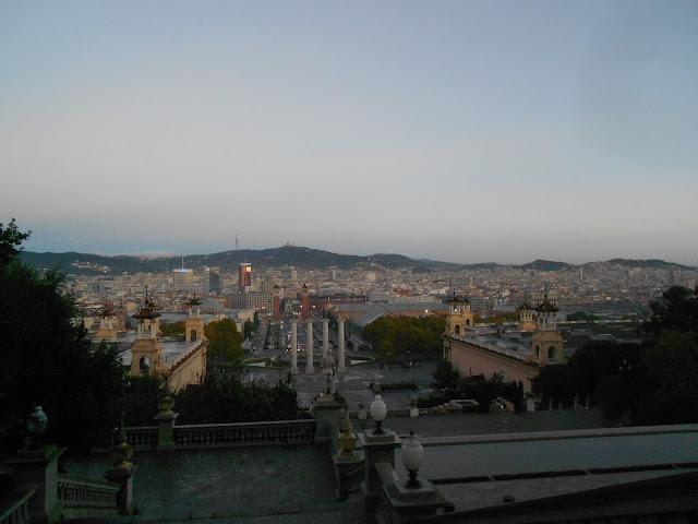 Running Barcelona | Blick vom Montjuïc auf die Stadt