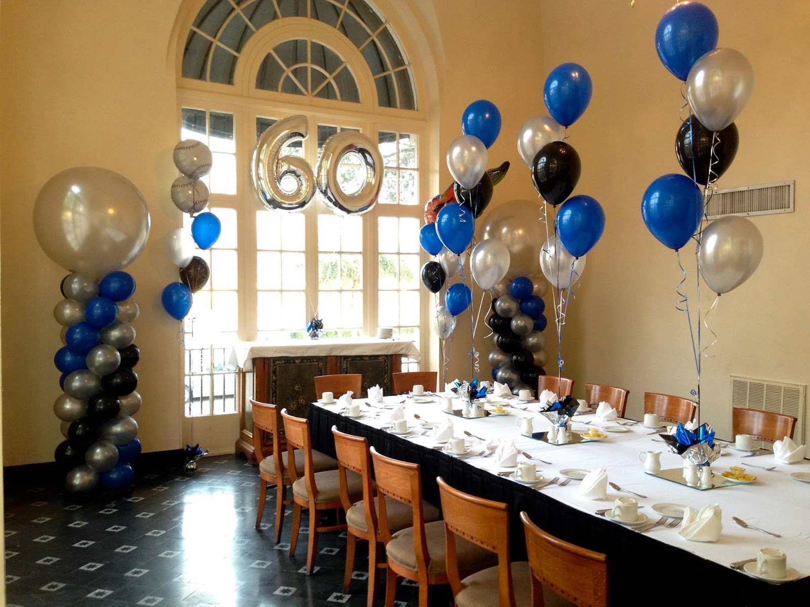 Party people event decorating company 60th birthday party for 60th anniversary decoration ideas