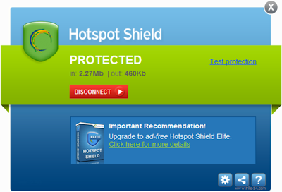 Hotspot Shield 2.8 – PC Connection Interface